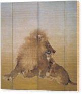 Golden Lion - Original Color Edition Wood Print