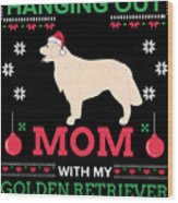Golden Retriever Ugly Christmas Sweater Xmas Gift Wood Print