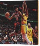Golden State Warriors V Chicago Bulls Wood Print