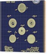 Golf Ball Patent Drawing 1899 Wood Print