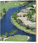 Golf Course Community Wood Print