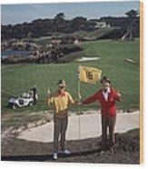 Golfing Pals Wood Print