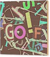 Golfing Print Press Wood Print