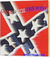 Gone With The Wind Minimalism Book Cover Art Wood Print