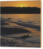 Good Harbor Bay Sunset Wood Print
