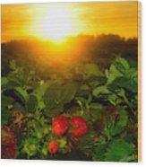 Good Morning Strawberries Wood Print
