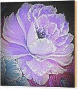 Gorgeous Rose In Purple  Wood Print