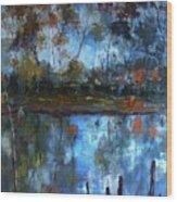Goulburn Reflections Wood Print