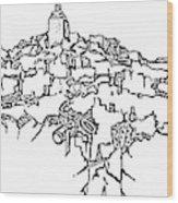 Gourdes Outline Final Wood Print
