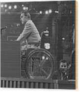 Governor George Wallace Speaking Wood Print
