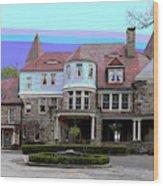 Graceland Mansion  Wood Print