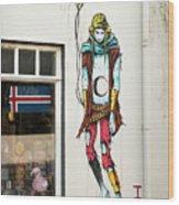 Graffiti By Deih In Reykjavik Wood Print
