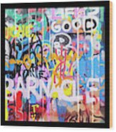 Graffitis Triptych Wood Print
