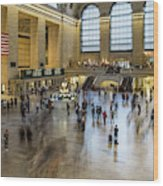Grand Central Motion Wood Print