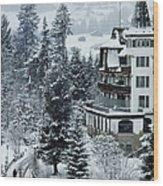 Grand Hotel Alpina Wood Print