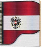 Grand Piano Austrian Flag Wood Print