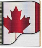 Grand Piano Canadian Flag Wood Print
