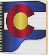 Grand Piano Colorado Flag Wood Print