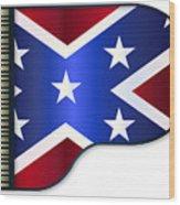 Grand Piano Confederate Flag Wood Print