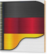 Grand Piano Germany Flag Wood Print