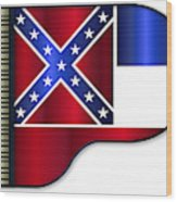 Grand Piano Mississippi Flag Wood Print