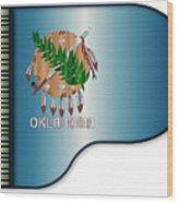 Grand Piano Oklahoma Flag Wood Print