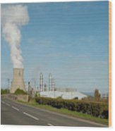 Grangemouth Petro-chemical Plant Wood Print