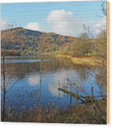 Grasmere In Late Autumn In Lake District National Park Cumbria Wood Print
