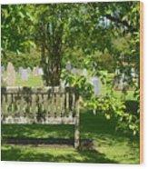 Graveyard Bench Wood Print
