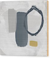 Grayscale 2- Abstract Art By Linda Woods Wood Print