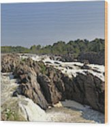 Great Falls On The Potomac Panorama  Wood Print