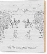 Great Mascot Wood Print