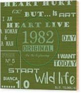 Green 1982 Original Wood Print