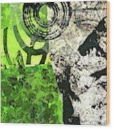 Green Balance No. 3 Wood Print