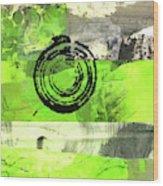Green Balance No. 4 Wood Print