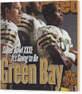 Green Bay Packers, 1996 Nfl Football Preview Issue Sports Illustrated Cover Wood Print