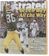 Green Bay Packers Antonio Freeman, 1997 Nfc Championship Sports Illustrated Cover Wood Print