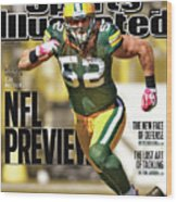 Green Bay Packers Clay Matthews, 2011 Nfl Football Preview Sports Illustrated Cover Wood Print