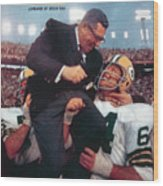 Green Bay Packers Coach Vince Lombardi, Super Bowl II Sports Illustrated Cover Wood Print