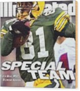Green Bay Packers Desmond Howard, Super Bowl Xxxi Sports Illustrated Cover Wood Print