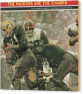 Green Bay Packers Jimmy Taylor, 1966 Nfl Championship Sports Illustrated Cover Wood Print