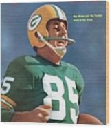 Green Bay Packers Max Mcgee, Super Bowl I Sports Illustrated Cover Wood Print