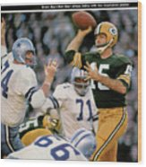 Green Bay Packers Qb Bart Starr, 1967 Nfl Championship Sports Illustrated Cover Wood Print