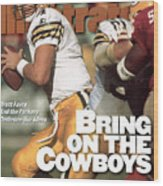 Green Bay Packers Qb Brett Favre, 1996 Nfc Divisional Sports Illustrated Cover Wood Print