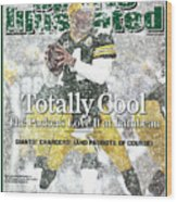 Green Bay Packers Qb Brett Favre, 2008 Nfc Divisional Sports Illustrated Cover Wood Print
