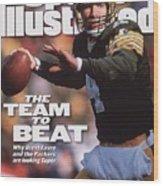 Green Bay Packers Qb Brett Favre... Sports Illustrated Cover Wood Print