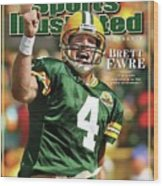 Green Bay Packers Qb Brett Favre Special Tribute Edition Sports Illustrated Cover Wood Print