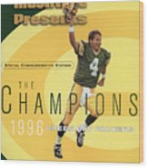 Green Bay Packers Qb Brett Favre, Super Bowl Xxxi Sports Illustrated Cover Wood Print