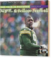 Green Bay Packers Reggie White, 1997 Nfc Championship Sports Illustrated Cover Wood Print