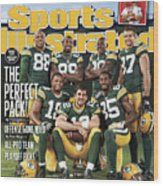 Green Bay Packers The Perfect Pack Sports Illustrated Cover Wood Print